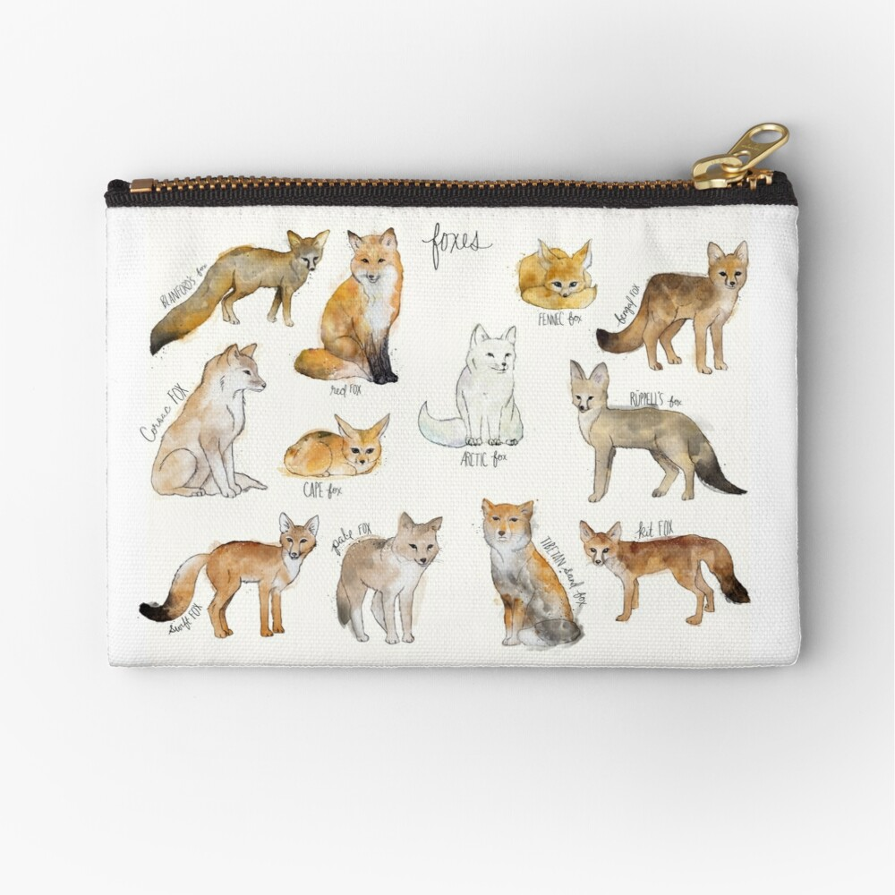 Foxes Zipper Pouch