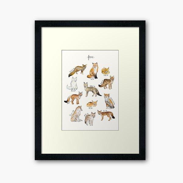 Foxes Framed Art Print