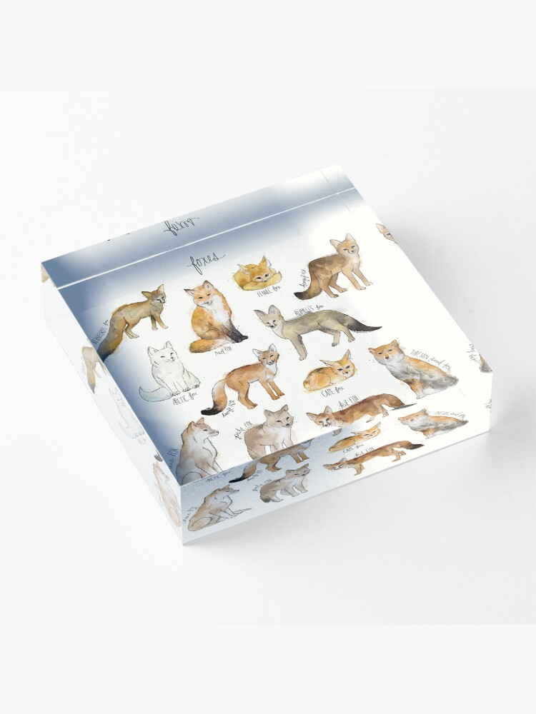 Alternate view of Foxes Acrylic Block