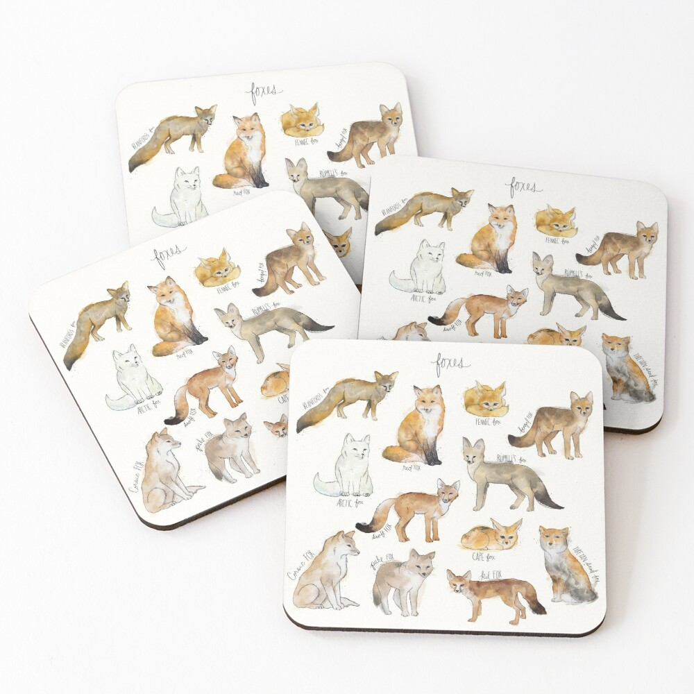 Foxes Coasters (Set of 4)