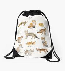 Foxes Drawstring Bag