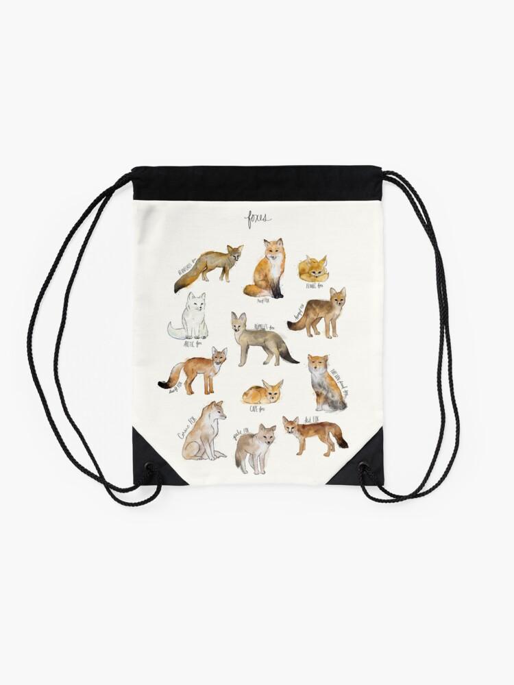 Alternate view of Foxes Drawstring Bag