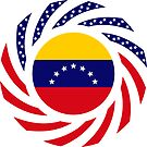 Venezuelan American Multinational Patriot Flag Series (7 Stars) by Carbon-Fibre Media