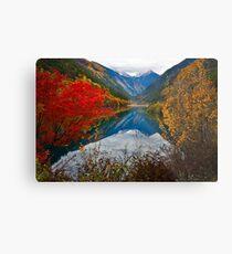 Autumn in Mirror Lake, Jiuzhaigou 秋临九寨沟 Metal Print
