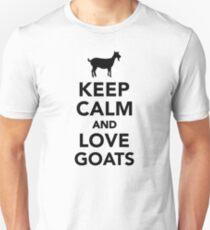 Keep calm and love Goats  Unisex T-Shirt