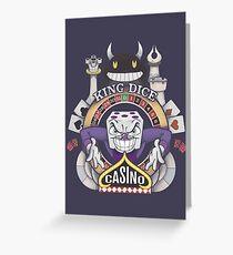 Cuphead King Dice Casino Greeting Card