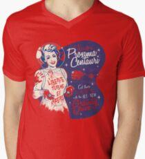 Du brauchst keine Augen zu sehen T-Shirt mit V-Ausschnitt