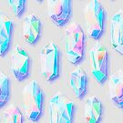 Iridescent Rainbow Crystals by micklyn