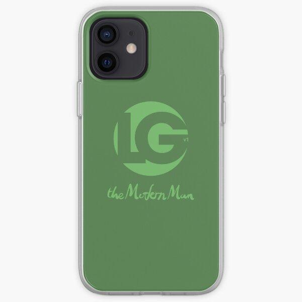 LG -The Modern Man - LGv1 ArtToy Logo (Green) iPhone Soft Case