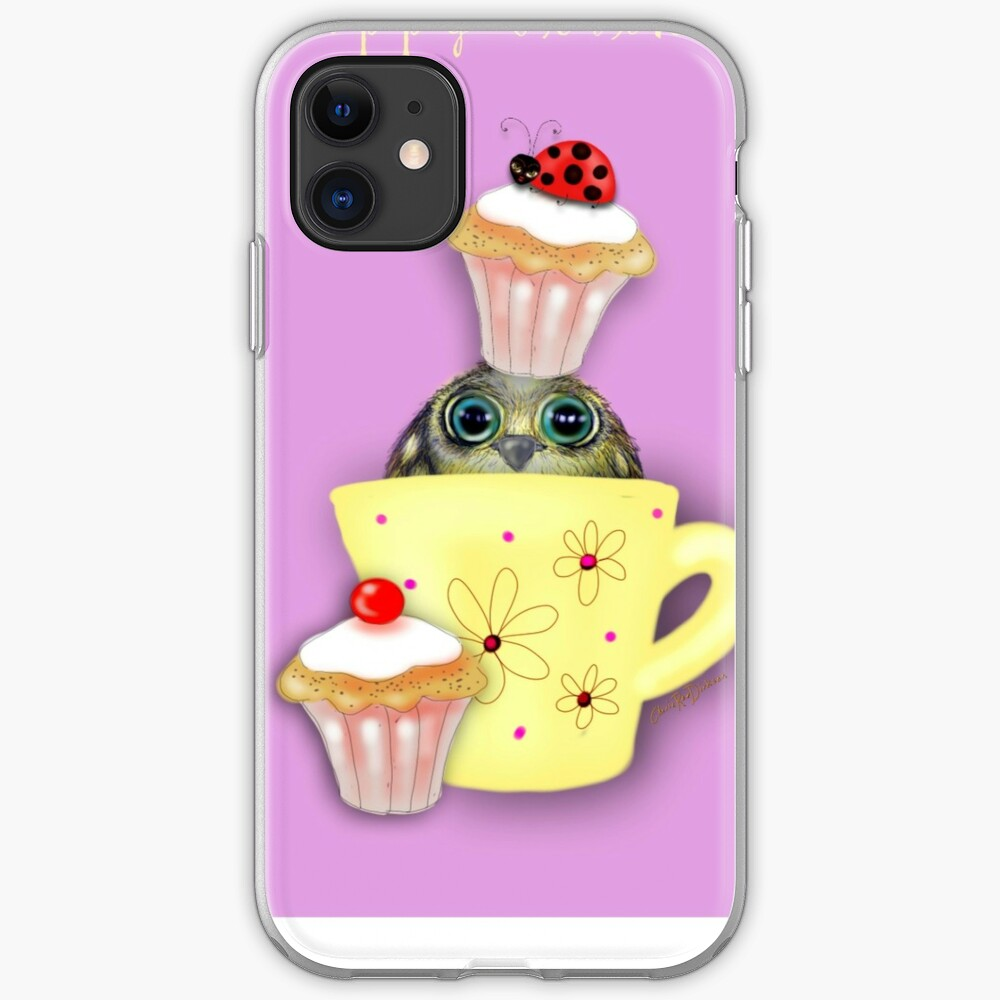 Happy Birthday Bird in a Teacup iPhone Case & Cover