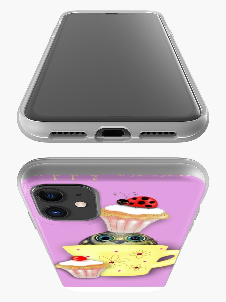 Alternate view of Happy Birthday Bird in a Teacup iPhone Case & Cover