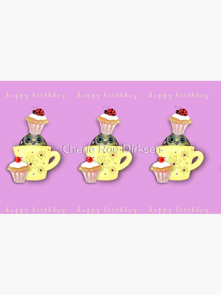Happy Birthday Bird in a Teacup by cheriedirksen