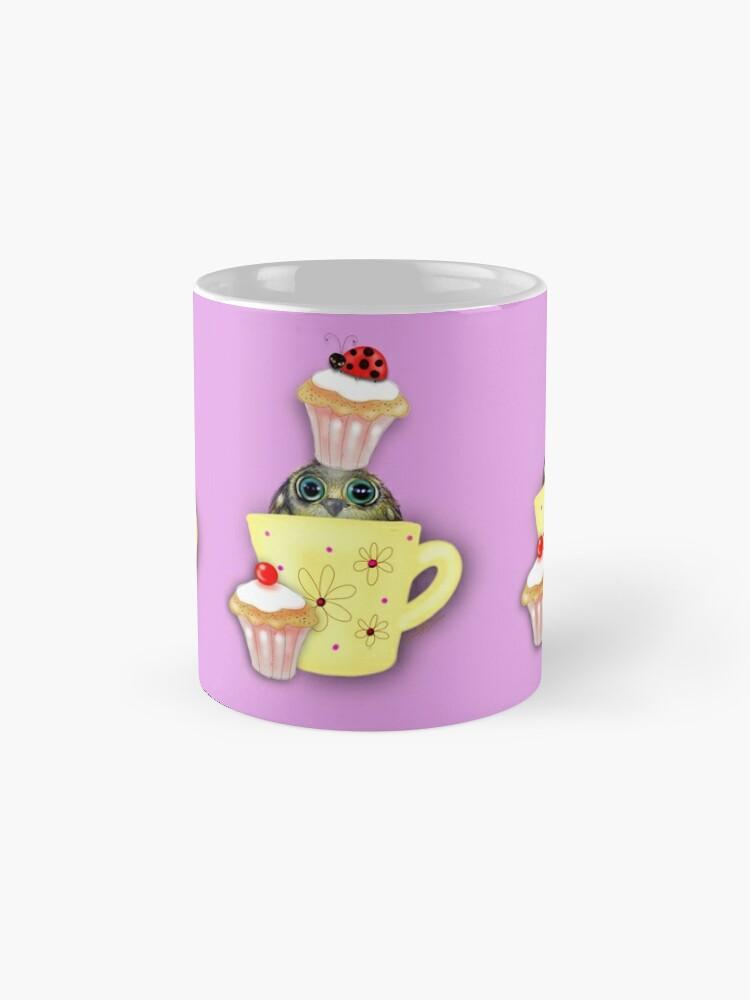 Alternate view of Happy Birthday Bird in a Teacup Mug