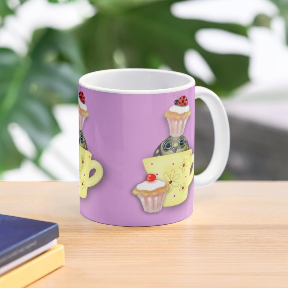 Happy Birthday Bird in a Teacup Mug
