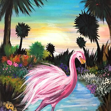 Flamingo Paradise by Adamzworld