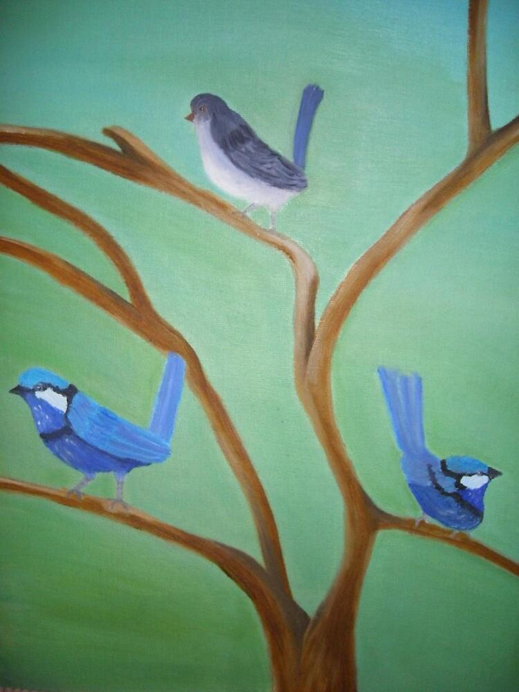 blue wren by christine7