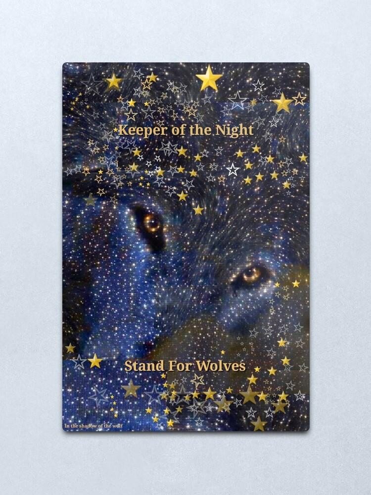 Alternate view of Keeper of the Night/2 Metal Print