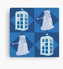 Dctor Who - Dalek & Tardis Canvas Print