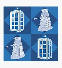 Dctor Who - Dalek & Tardis Photographic Print