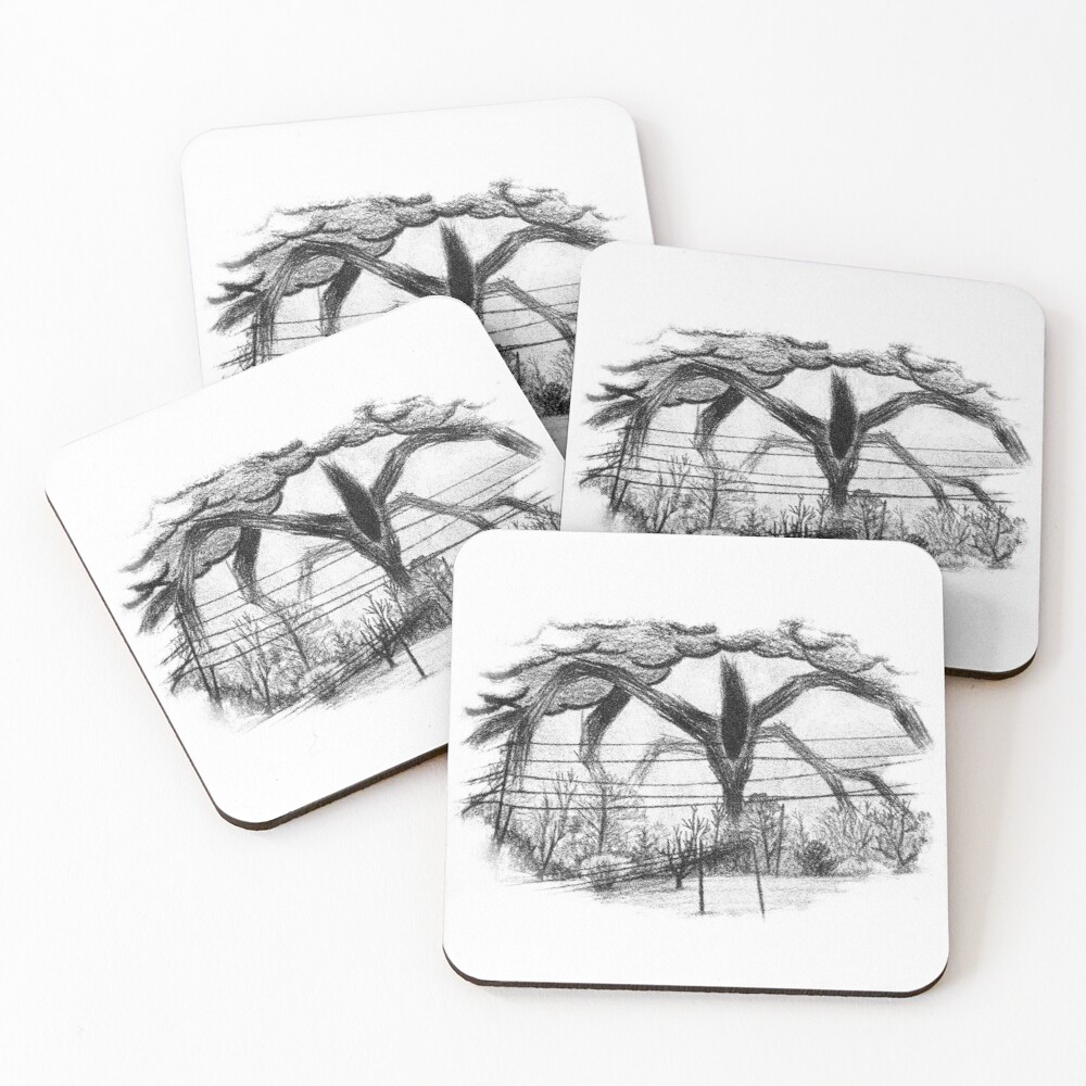 Will Drawing (Stranger Things) Coasters (Set of 4)