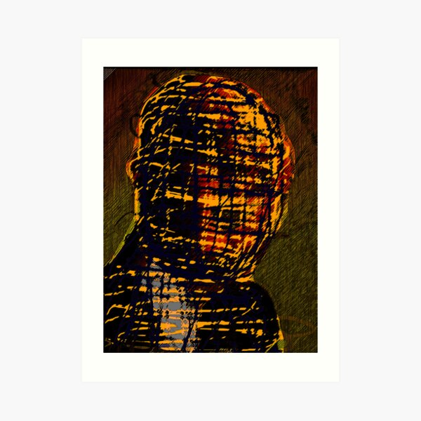 MAN IN THE BURBERRY MASK Art Print