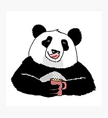 Lámina fotográfica Coffe Panda