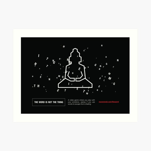 "the word ""enlightenment"" - wide Art Print"