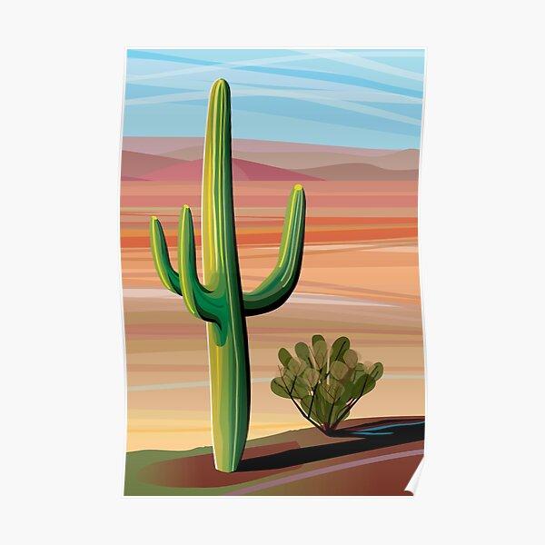 Saguaro Cactus in Sonora Desert Poster