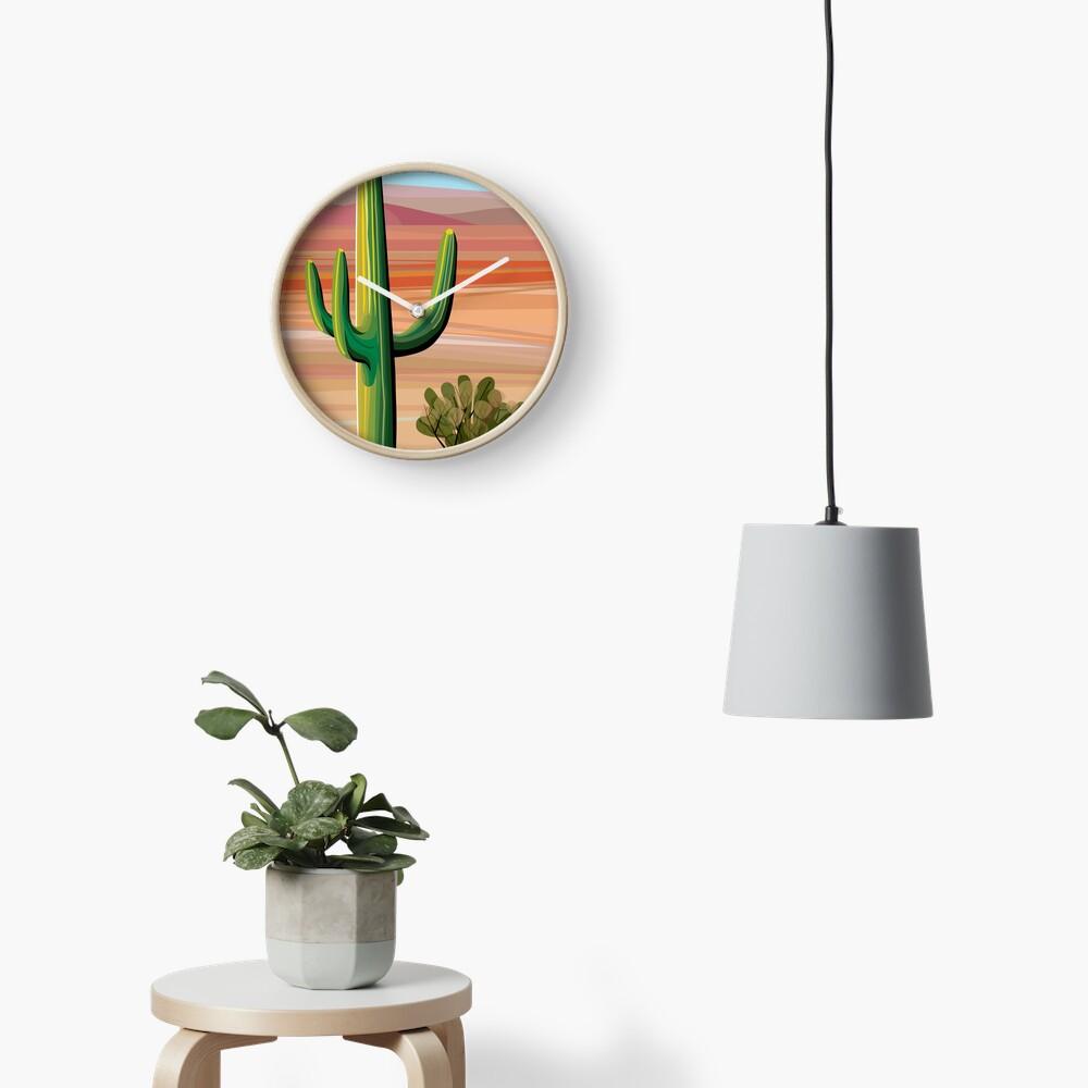 Saguaro Cactus in Sonora Desert Clock