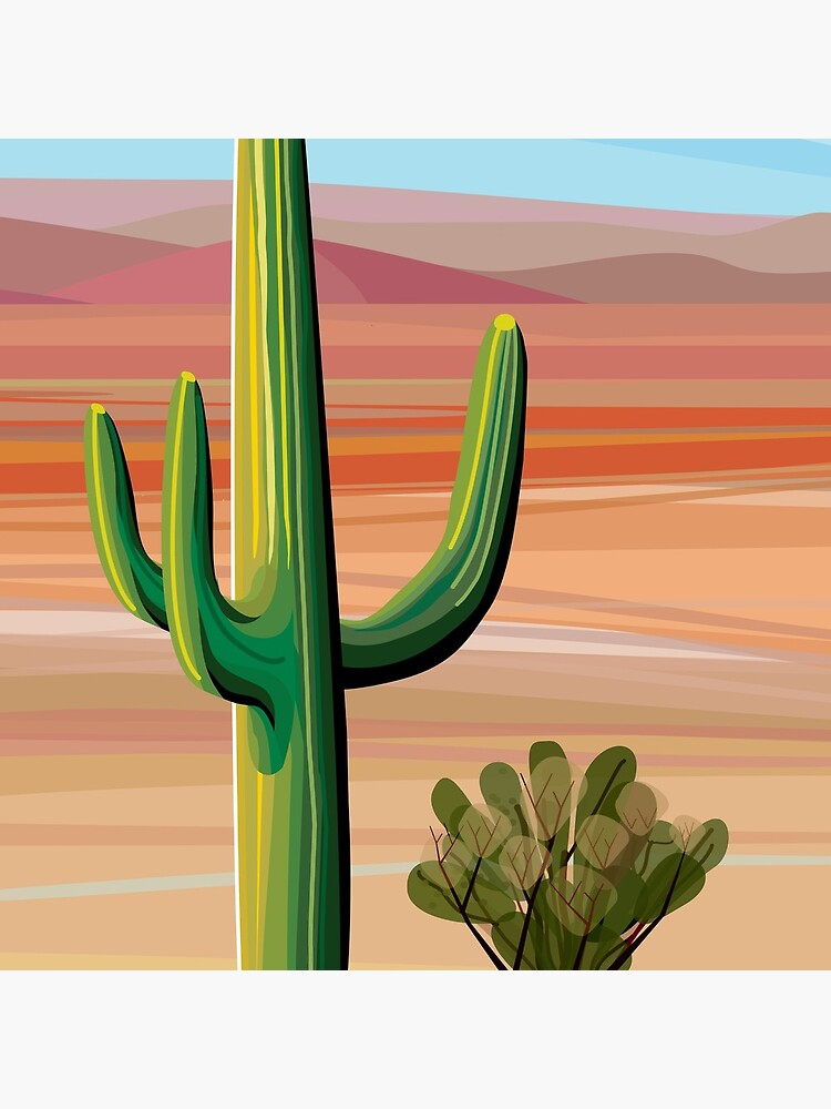 Saguaro Cactus in Sonora Desert by charker