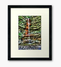 Waterfall Starved Rock in Spring Framed Print