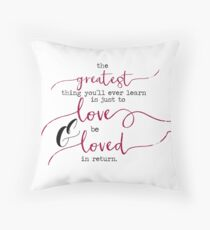 The Greatest Thing - Love Throw Pillow
