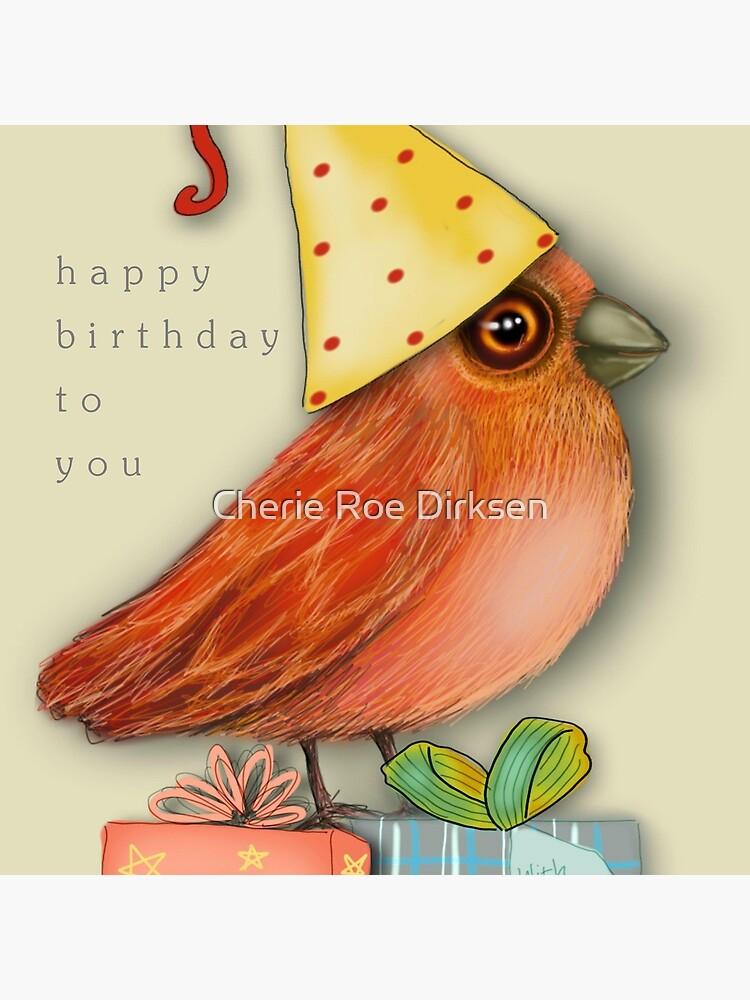 Birthday Bird by cheriedirksen