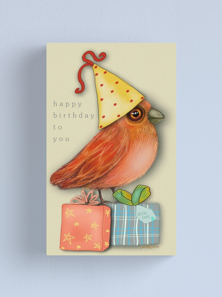 Alternate view of Birthday Bird Canvas Print