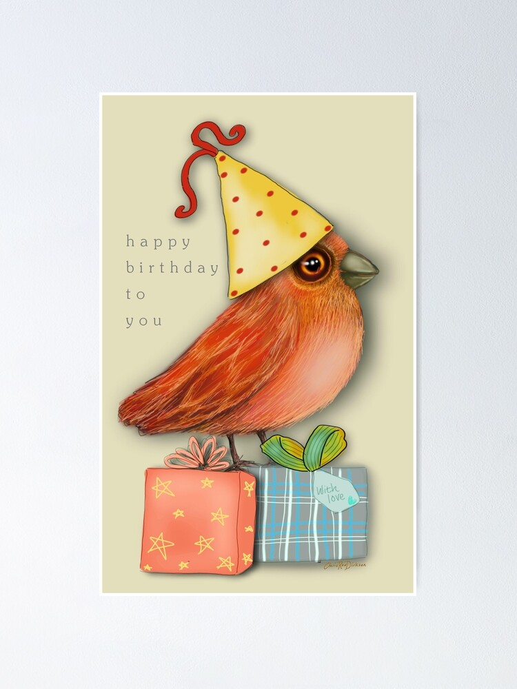 Alternate view of Birthday Bird Poster