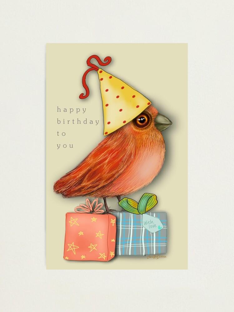 Alternate view of Birthday Bird Photographic Print