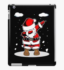 dabbing santa, christmas dabbing, christmas dabbing santa iPad Case/Skin
