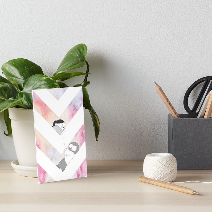 Aquarell-Grafik - Rosa Galeriedruck