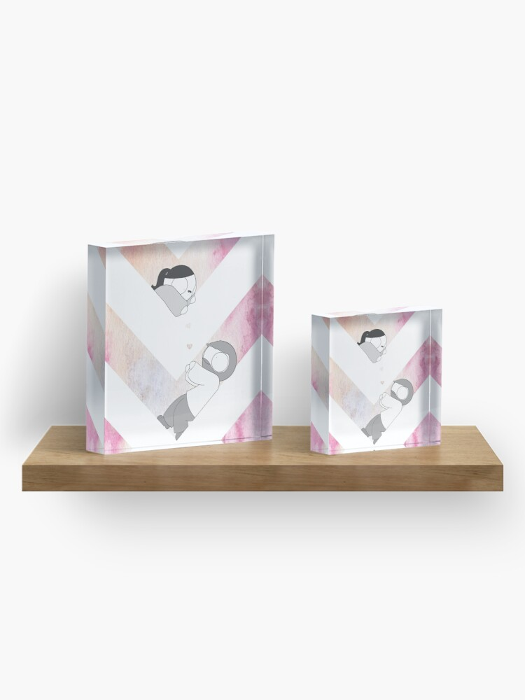 Alternate view of Watercolor Graphic - Pink Acrylic Block