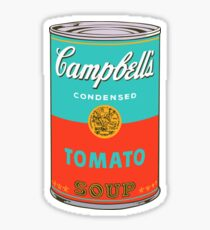 Andy warhol campbell's soup can sticker Sticker