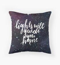 Lichter werden Sie nach Hause führen Kissen