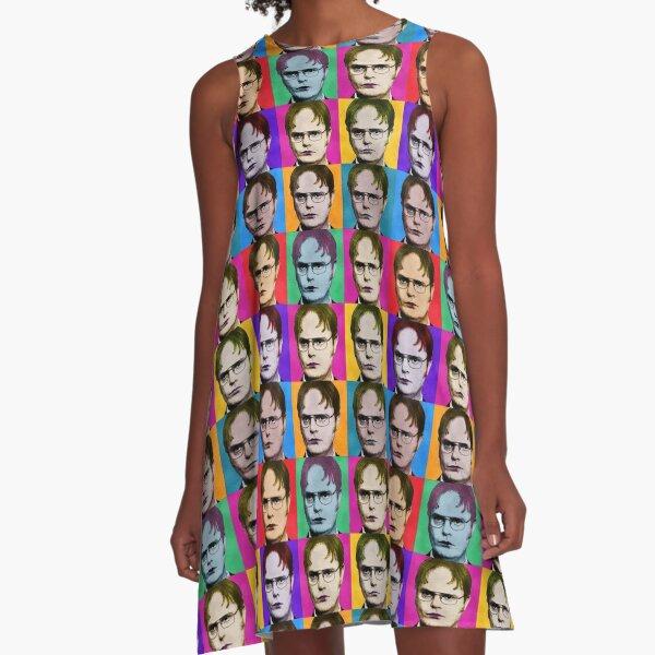 Dwight Schrute Diptych A-Line Dress