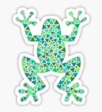 Mosaic frog. Sticker