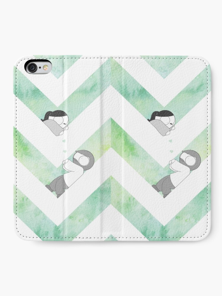 Alternate view of Watercolor Graphic - Green iPhone Wallet