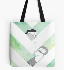 Watercolor Graphic - Green Tote Bag