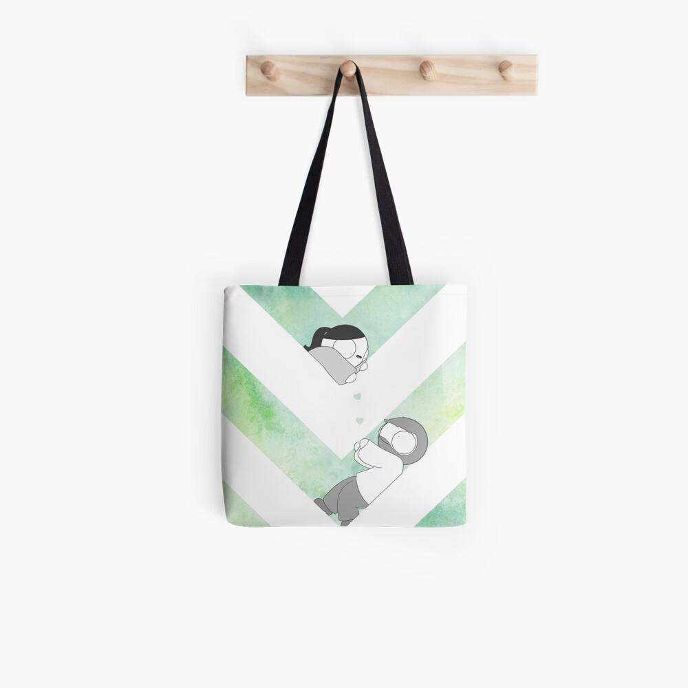 Watercolor Graphic - Green Tote Bag