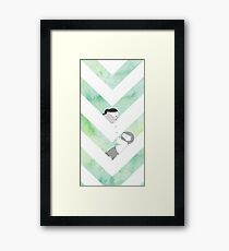 Watercolor Graphic - Green Framed Print