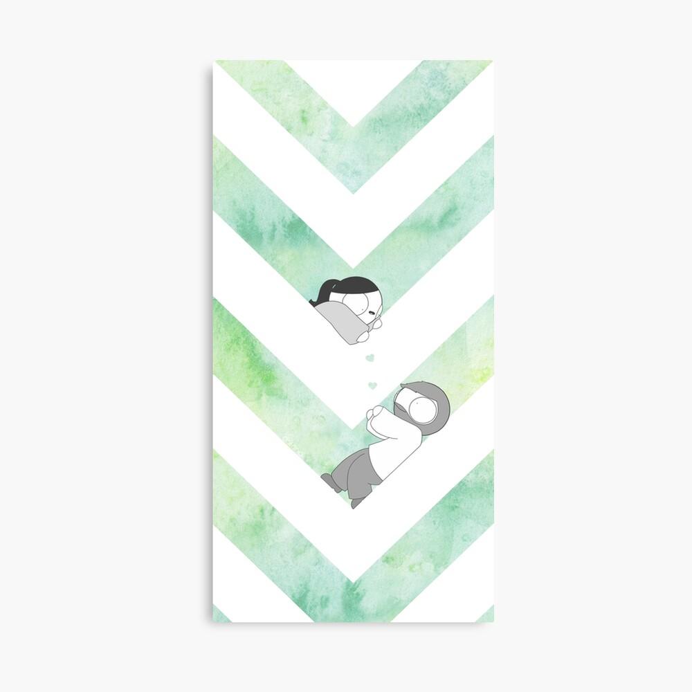 Gráfico de acuarela - Verde Lienzo
