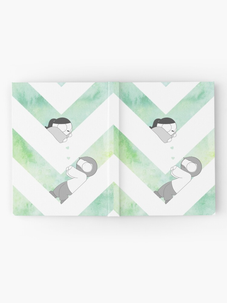 Alternate view of Watercolor Graphic - Green Hardcover Journal