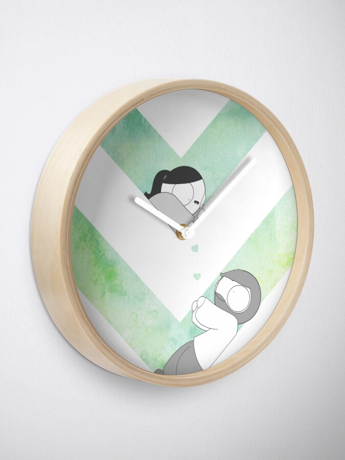 Alternate view of Watercolor Graphic - Green Clock